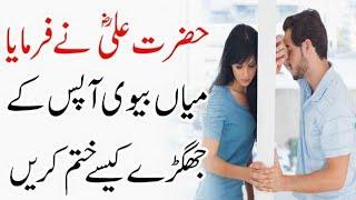 Ghar Mein Larai Jhagra Kaise Khatam Karein | Hazart Ali (R.A) Ka Farman | Islam Advisor