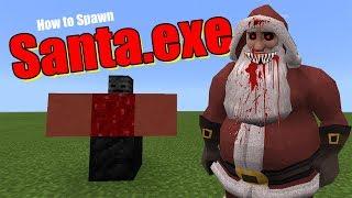 How to Spawn SANTA.EXE | Minecraft PE thumbnail