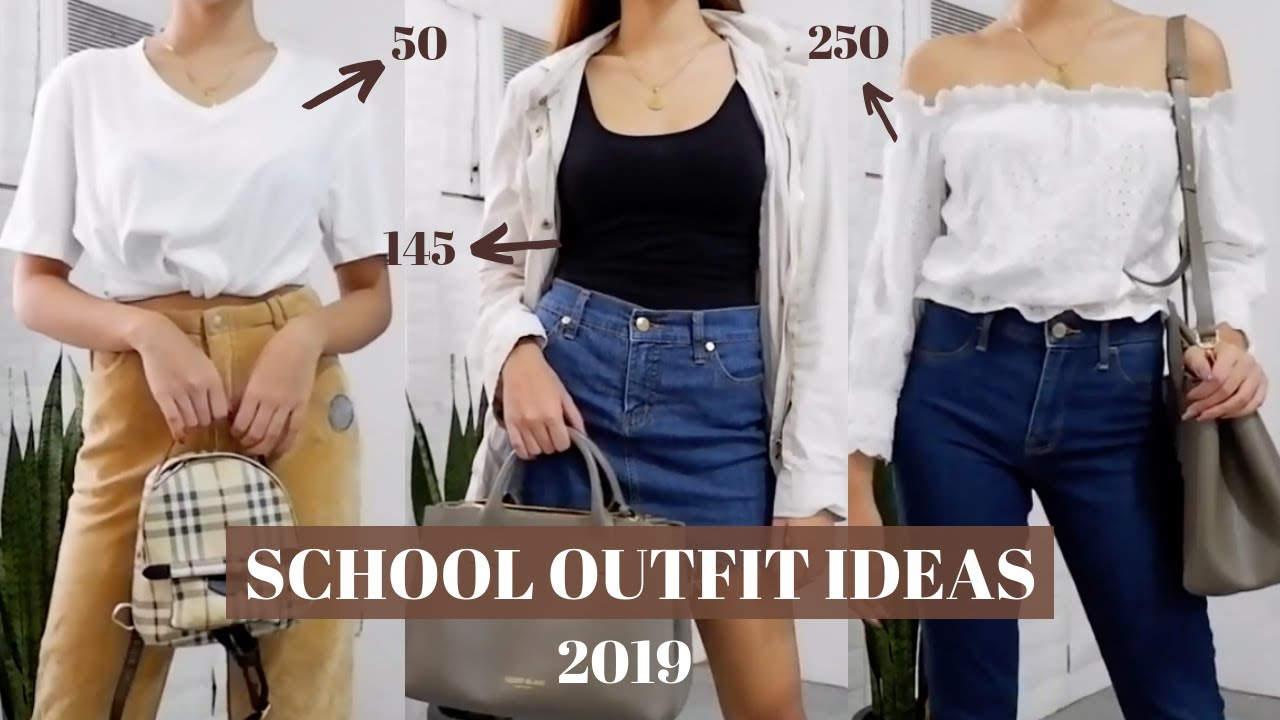 [VIDEO] - BACK TO SCHOOL OUTFIT IDEAS 2019! Less than 300 (Chill/tamad days) by Lhianne Lauren 1
