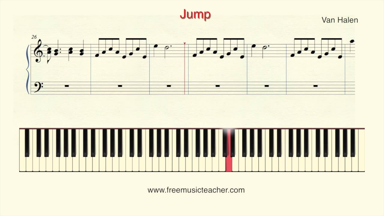 How To Play Piano Van Halen Jump Piano Tutorial By Ramin Yousefi Youtube