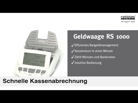 Zeitsparende Geldwaage RS 1000