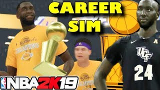 TACKO FALL'S ENTIRE NBA CAREER SIMULATION - NBA 2K19
