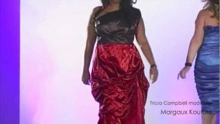 PLUS SIZE MODEL TRICIA CAMPBELL ON THE RUNWAY AT FULL FIGURED FASHION WEEK