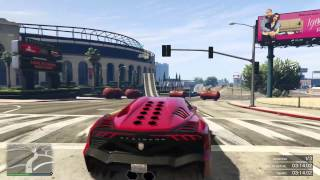 GTA V Online - carrera con el zentorno teroquin