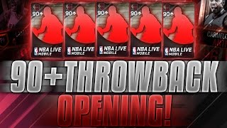 NBA Live Mobile - HUGE 90+ Throwback Opening! 2 MIL in Packs! New Throwbacks! Worth It? Epic Troll:(
