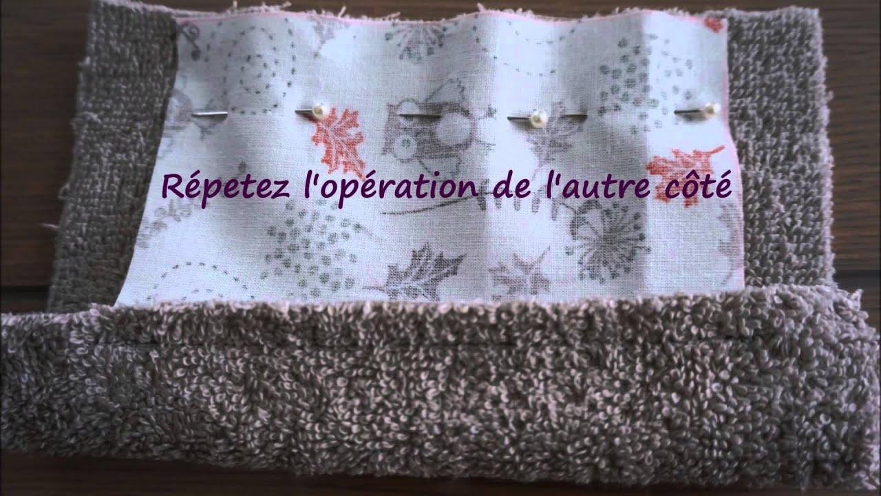 Tuto lingette lavable pour b b sans couture apparente et - Tuto chausson bebe couture ...