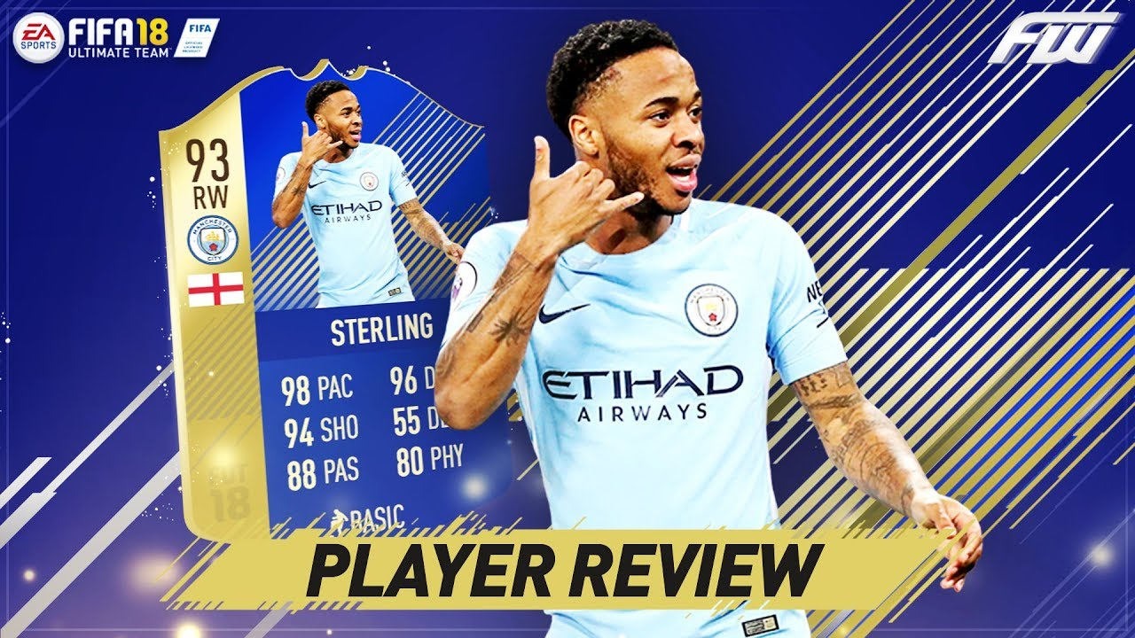 FIFA 18 TOTS STERLING Player Review (93) THE BEST DRIBBLING IN FIFA ...