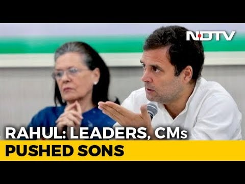 """Rahul Gandhi's Plain-Speak To Congress Leaders Who """"Pushed"""" Sons: Sources"""