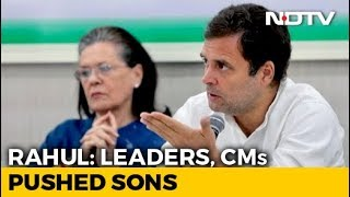 """Rahul Gandhi's Plain-Speak To Congress Leaders Who """"Pushed"""" Sons: Sources thumbnail"""