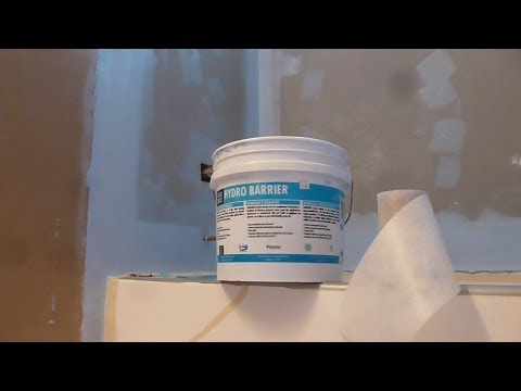 "HOW TO waterproof  60"" tub surround walls before shower Tile installation- Laticrete Hydro  Barrier"