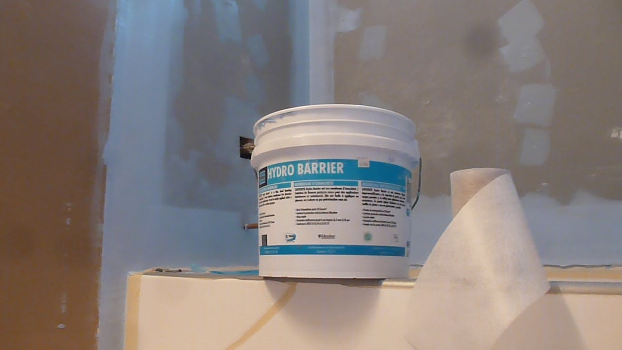 how to waterproof 60 tub surround walls before shower tile installation laticrete hydro barrier