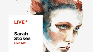 LIVE Art | Painting an Eye with Watercolor | Sarah Stokes
