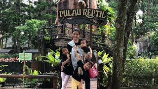 Liburan Zara Cute part 5   Keliling Pulau Reptile   Wisata Edukasi Anak ke Hutan Buatan
