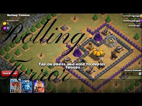 Rolling terror clash of clans- 3stars