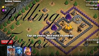 Rolling terror clash of clans- 3stars