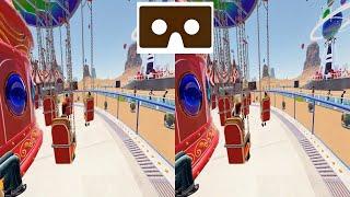VR 3D Carousel Карусель 2 видео для VR очков 3D SBS VR box