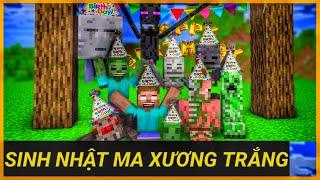 [ Lớp Học Quái Vật ] Cả Lớp Tổ Chức Sinh Nhật Cho Ma Xương Trắng | Minecraft Animation