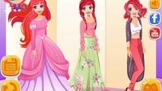 NEW мультик онлайн для девочек—Ариэль русалочка одевалка—Игры для детей