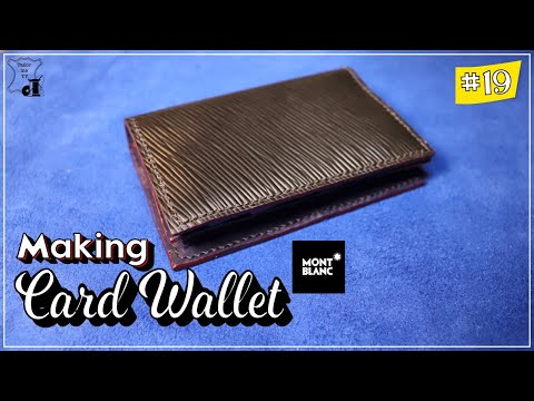 #Leathercrft   #How to make#Card wallet for beginner #free pattern #가죽공예 #패턴공유 #바느질 #카드지갑 #가죽공예가방