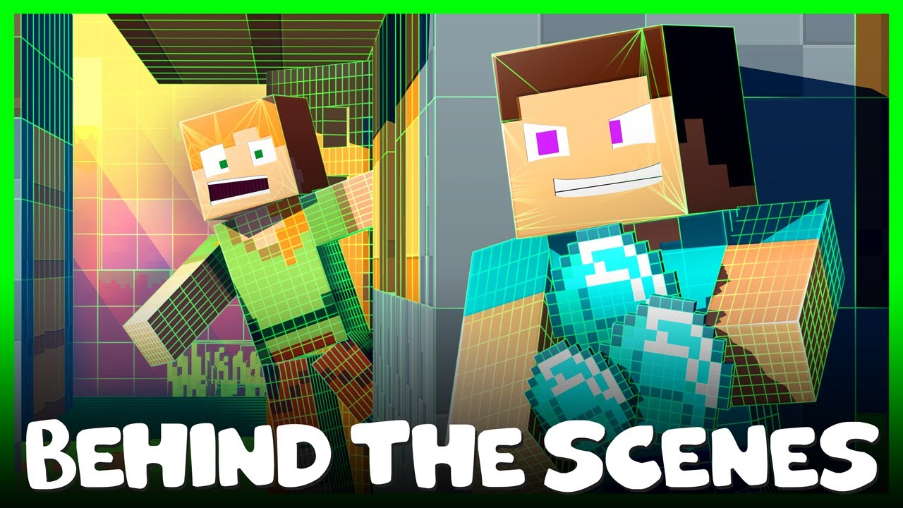 BEHIND THE SCENES - Alex and Steve Life (Minecraft Animation)