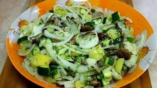Салат из опят. Закуска к водке. Очень вкусно! #салат #рецептсалатсгрибами #грибы #опята #салаты #еда
