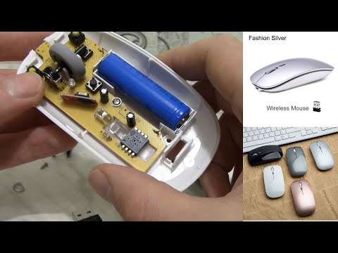 Аккумуляторная беспроводная мышка с Алиэкспресс. Что внутри мышки из Китая.