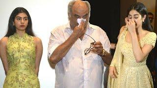 Video Sridevi's Family BREAKS DOWN | Jhanvi Kapoor, Boney Kapoor, Khushi Kapoor | Sridevi's Birthday Delhi download MP3, 3GP, MP4, WEBM, AVI, FLV Agustus 2018