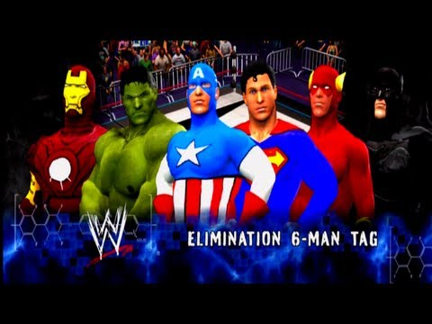 Avengers vs Justice League [6 Man Elinimation Tag Match] - WWE 13