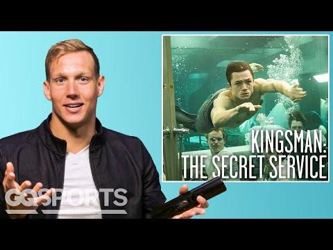 Olympic Swimmer Caeleb Dressel Breaks Down Swimming Scenes from Movies | GQ Sports