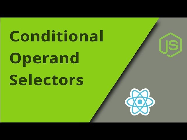 Javascript Conditional Operand Selectors
