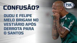 Dudu e Felipe Melo brigam no vestiário após derrota para o Santos