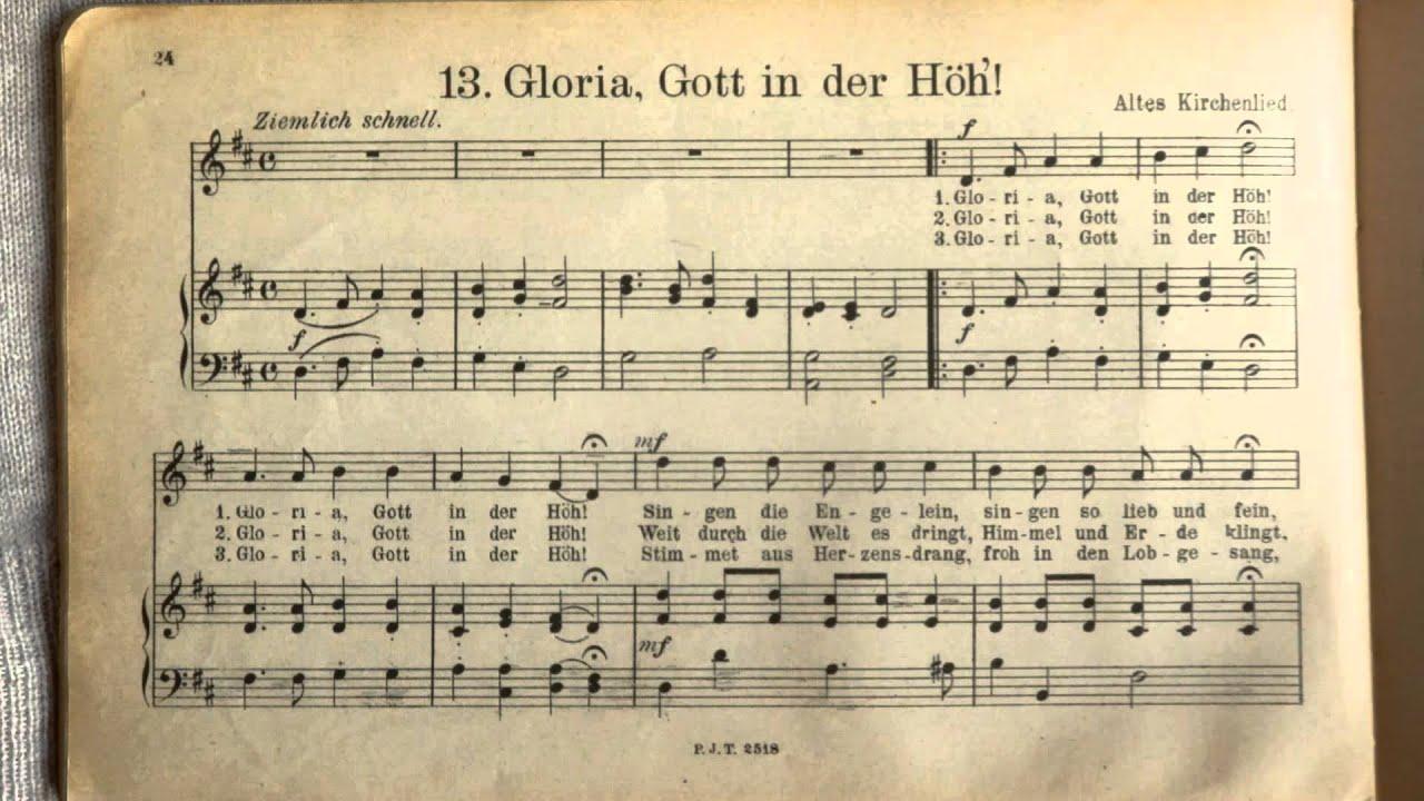 Weihnachtslieder Gesang.Weihnachtslieder Gloria Gott In Der Höh Gesang Solo