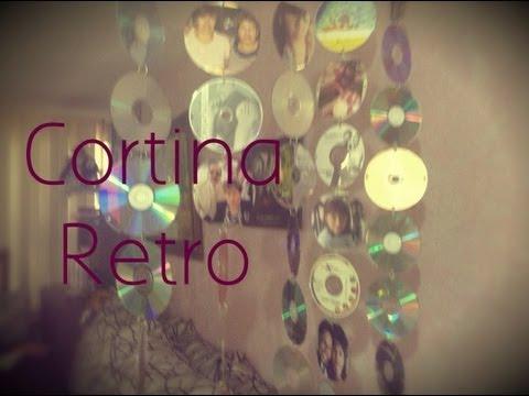 DIY Cortina Retro (Cds Viejos) #Deco Gitcoh