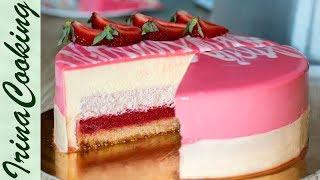 МУССОВЫЙ КЛУБНИЧНЫЙ ТОРТ | Mousse Strawberry Cake