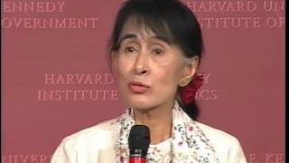 A Public Address by Daw Aung San Suu Kyi | Institute of Politics