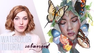 WATERCOLOR TUTORIAL // submerged