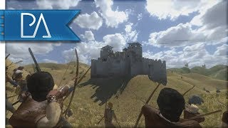 MASSIVE SIEGE DEFENSE - Mount and Blade: Warband Gameplay - Huge Event
