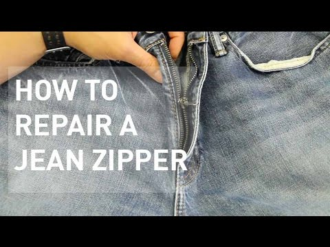 How to Fix a Jean Zipper Off Track
