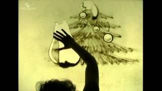Рисование песком.  Пески времени. Видео открытка из песка, песочное шоу Омск