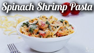 Spinach Shrimp Pasta | How To Make Spinach Shrimp Pasta | Spinach Shrimp Pasta Recipe