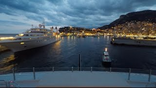 Onboard a super Yacht: Timelapse leaving Monaco