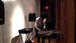 Megashaun performs Mega Man at the Pianocade launch