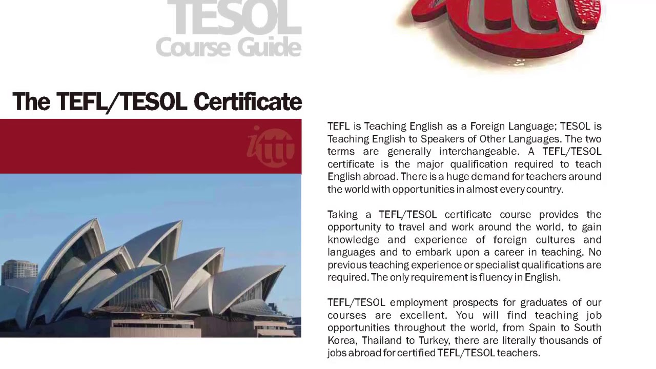 International Tefl And Tesol Training Ittt The Tefltesol