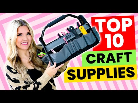 My Top 10 Must Have Crafting Tools…What's in my crafting tool kit @Liz Fenwick Vlogs