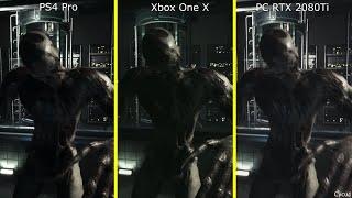 Daymare 1998 PS4 Pro vs Xbox One X vs PC RTX 2080 Ti Graphics Comparison