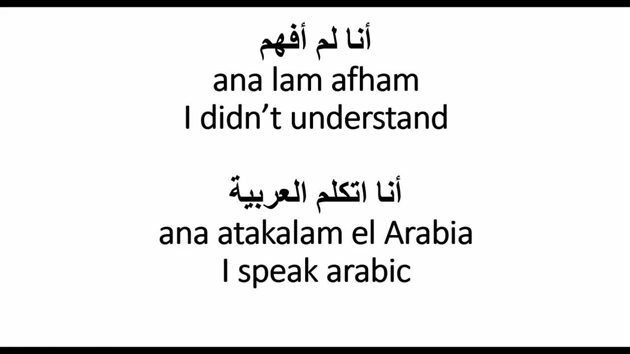 How to introduce yourself in Arabic - learn useful phrases - YouTube