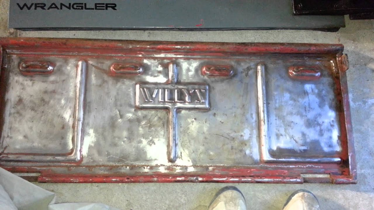 Willys Jeep Truck >> Willys jeep tailgate on a jeep tj part 1 - YouTube