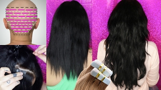 HOW TO- APPLY Tape Hair Extensions CORRECTLY AT HOME! SAVE $$ | IRRESISTIBLE ME EXTENSIONS