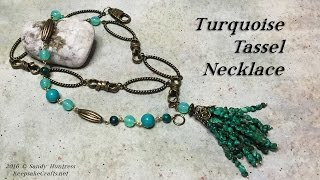 Turquoise Tassel Necklace Tutorial