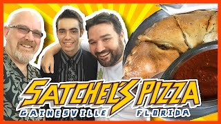 Satchel's Pizza, Gainesville Florida - 3 Calzones with List25 | KBDProductionsTV